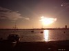 Romantic sunset at sea