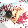 romantic rose petals bath