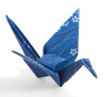 .paper crane for good luck.
