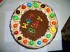 colourful bday cake